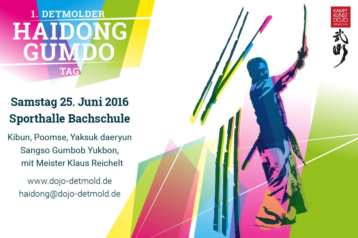 Schwertkampf Haidong Gumdo Lehrgang Einladung Detmold 2016