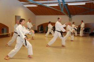 Karate Training Oberstufe
